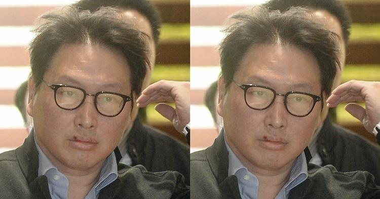 '정돈되지 않은 머리+입술 상처' SK그룹 최태원 (사진 5장)