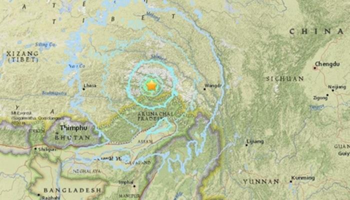 티베트-인도 접경서 규모 6.3 지진 발생