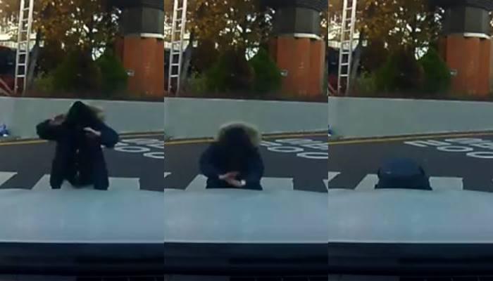 """""""눈물 남ㅠㅠ"""" 수능 직전 교문 앞에서 아버지께 큰절한 수험생 (영상)"""