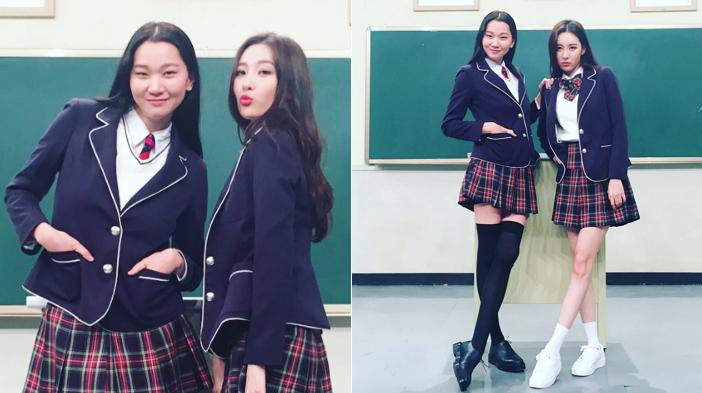 """""""누가 모델이고 누가 가수?"""" 무보정 인증샷 공개한 장윤주와 선미"""