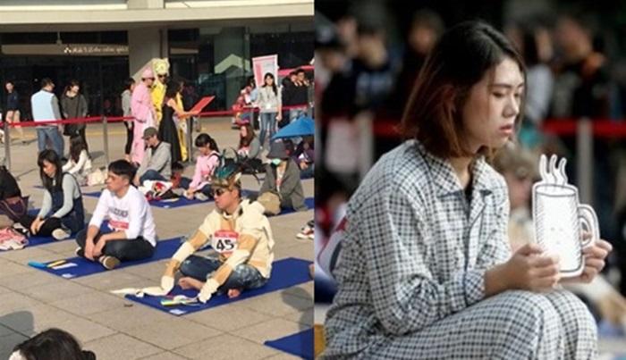 '한국이 원조' 대만에서 열린 멍 때리기 대회 사진