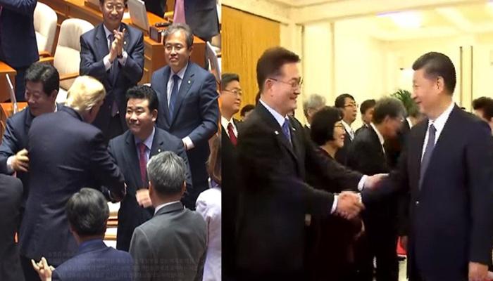 """송영길 의원 """"나도 시진핑 주석과 악수할 때 팔꿈치 건드렸다"""""""