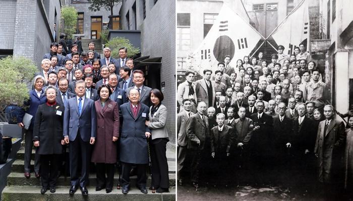 중국 충칭 임시정부 방문한 문재인 대통령 (사진)