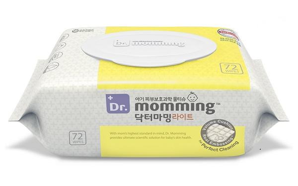 유한킴벌리, 피부 자극 최소화한 아기물티슈 '닥터마밍 라이트'출시