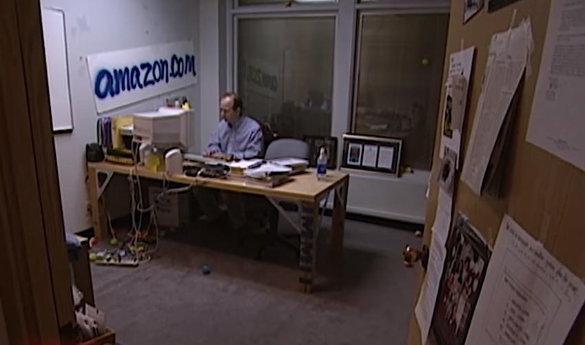 세계 전자상거래 최강자 아마존 '1999년 사무실'