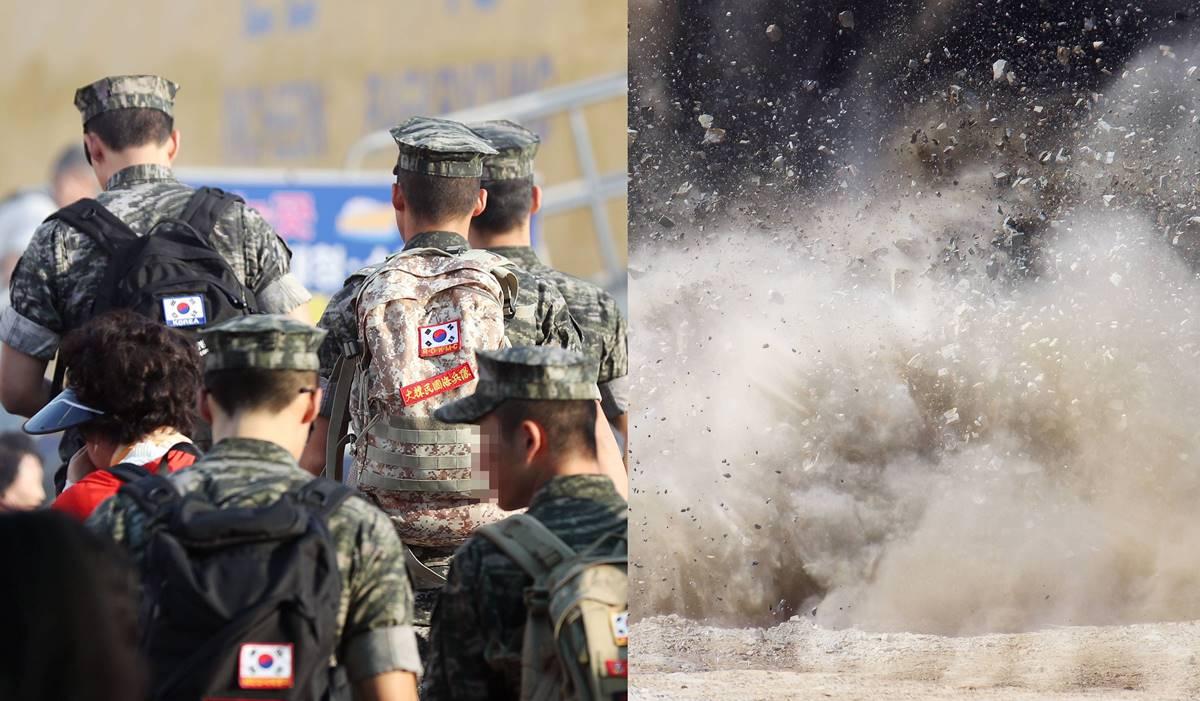 김포 해병대에서 폭발물 밟아 군인이 크게 다치는 사고 발생했다